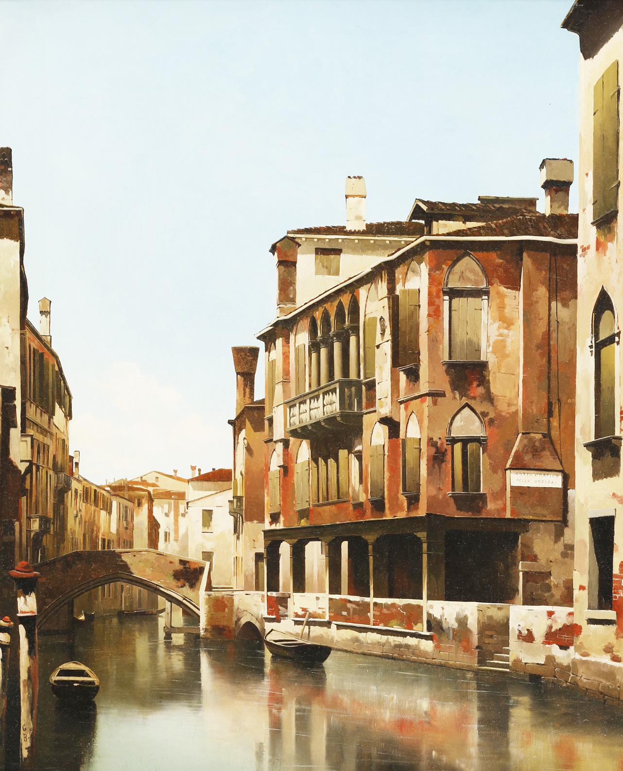Sotto portico, Venezia 68x54cm Tempera
